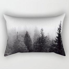Silent Forest Dark Rectangular Pillow