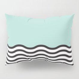 Waves of Green Pillow Sham