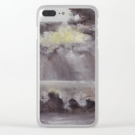 Outer Banks White Sunset Clear iPhone Case