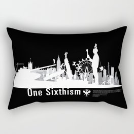 One Sixth Ism (White World) Rectangular Pillow