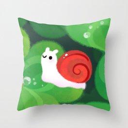 Happy lucky snail Throw Pillow