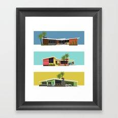 Mid Century Modern Houses 2 Framed Art Print