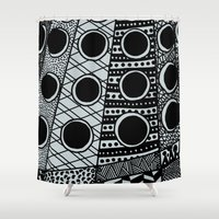 dalek Shower Curtains featuring Dalek by Rebecca Bear