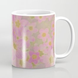 Pink Floral, The Earth Laughs In Flowers Coffee Mug
