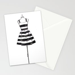 Black & White Dress  Stationery Cards