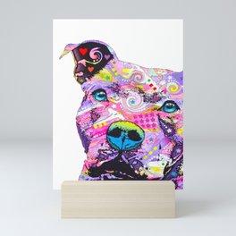 Colourful Pit Bulls, Pit Bulls Gift Mini Art Print