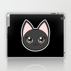 Black Anime Eyes Cat Laptop & iPad Skin