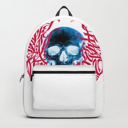 Gothic Calligraphy on Skull saying Always Hungry Backpack