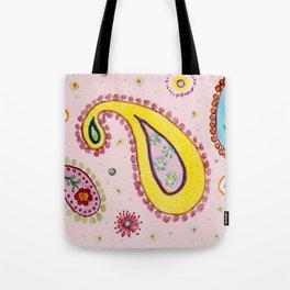 Pink Paisley  - Motifs Cachemire Rose Tote Bag