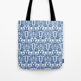 Swedish Folk Art - Blue Tote Bag