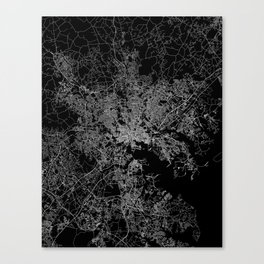 Baltimore map Maryland Canvas Print