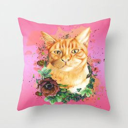 little yellow Throw Pillow