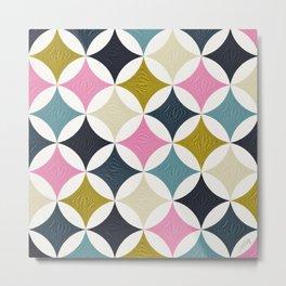 Eclipse Pattern – Blue & Pink Metal Print
