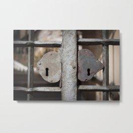 Rusted metal/iron gate Metal Print