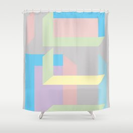 The construction Shower Curtain
