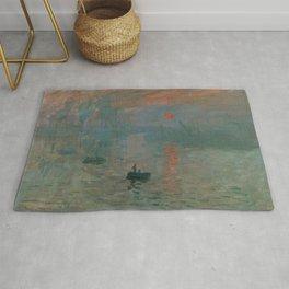 Impression, Sunrise, Claude Monet Rug