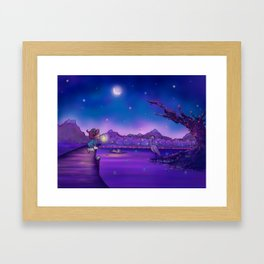 The Unexpected Visitor Framed Art Print