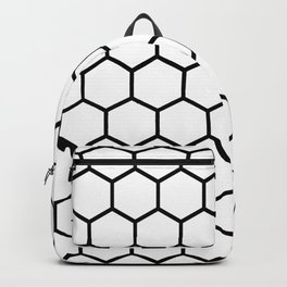 White and black honeycomb pattern Backpack