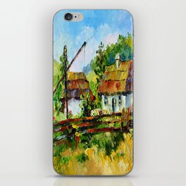 House in the village # 3 iPhone Skin