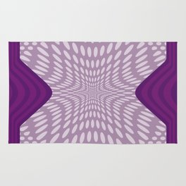 Purple Dots & Stripes Rug