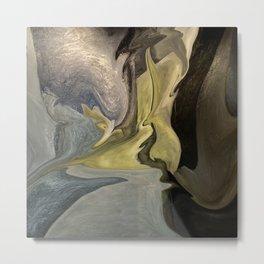 Liquid Color Abstract Metal Print