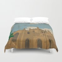 downton abbey Duvet Covers featuring Dunfermline Abbey by Ross Napier