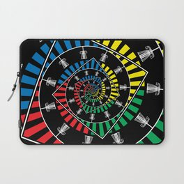 Spinning Disc Golf Baskets Laptop Sleeve