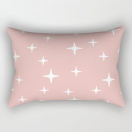 Mid Century Modern Star Pattern 443 Dusty Rose Rectangular Pillow
