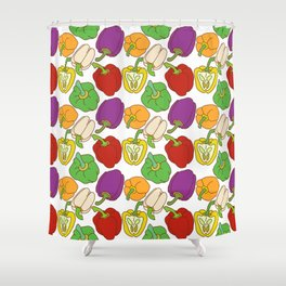 Bell Peppers Pattern Shower Curtain