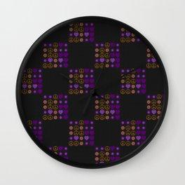 Halloween Patchwork Weave Wall Clock