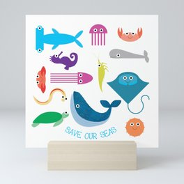 Save Our Seas Mini Art Print