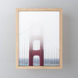 Golden Gate Bridge in Fog Framed Mini Art Print