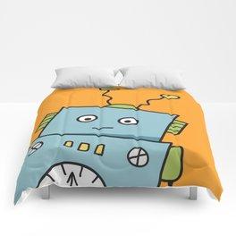 Friendly Blue Robot Comforters
