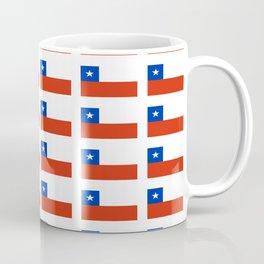 Flag of Chile 3-Spanish,Chile,chilean,chileno,chilena,Santiago,Valparaiso,Andes,Neruda. Coffee Mug