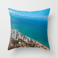 brazil Throw Pillows featuring Brazil Beach by Mauricio Santana