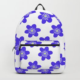 Flower Anemone Hepatica, small Backpack