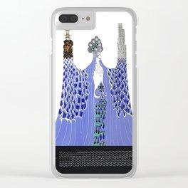 """Art Deco Design """"Pacific Ocean"""" by Erté Clear iPhone Case"""