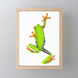 Tree Frog Climbing Framed Mini Art Print