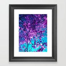 purple tree XXIX Framed Art Print