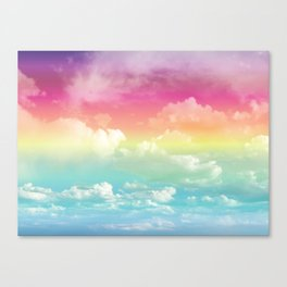Clouds in a Rainbow Unicorn Sky Canvas Print