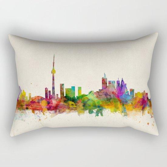 Toronto Skyline Rectangular Pillow