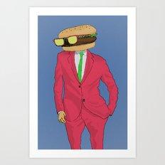Burger Mr. Art Print
