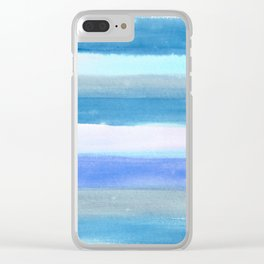 Blue Horizons Clear iPhone Case