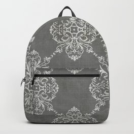 Vintage Damask - Charcoal Backpack