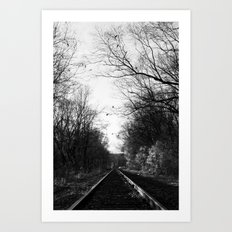 The Rail Art Print