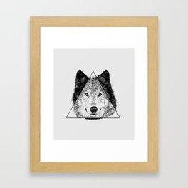 Trinity Wolf Framed Art Print