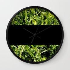 paprat (black) Wall Clock