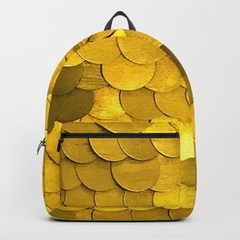 Bright Gold Sequins With Contemporary Bling and Glam Backpack