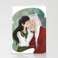 inuyasha Stationery Cards featuring What a surprise! by Madoso