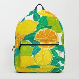 Lemon-Lime Painting Backpack